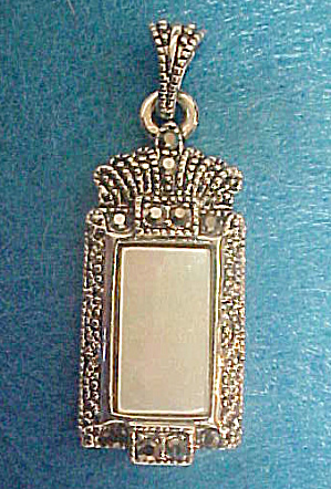 Victorian Style Marcasite Pendant (Image1)