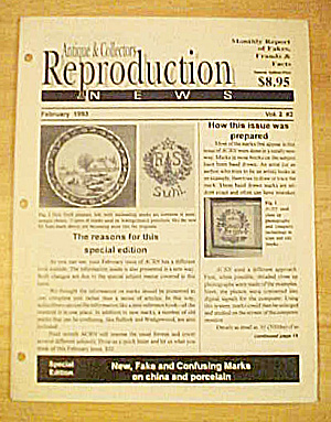 Antique & Collectors Reproduction 1993