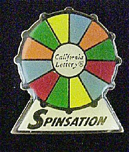 Spinsation Calif. Lottery Lapel Pin (Image1)
