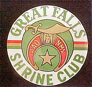 Great Falls MT Shrine Club Fraternal Pin Back (Image1)