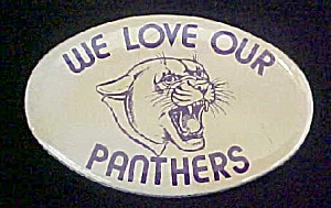 We Love Our Panthers Pin Back Button (Image1)