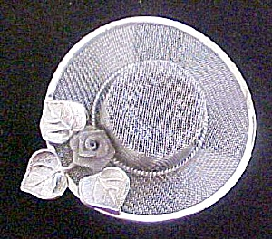 Silver Toned Mesh Hat Pin