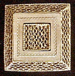 Filigree Style Gold-toned Square Pin