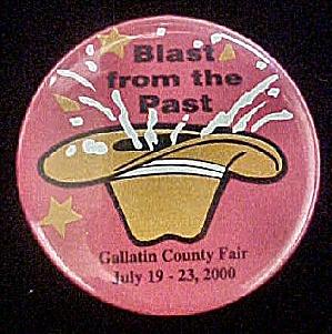 Gallatin, Montana County Fair Pin Back (Image1)