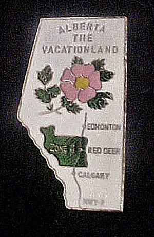 Alberta, Canada Metal Souvenir Pin (Image1)
