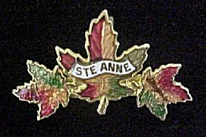Ste Anne, Canada Metal Souvenir Pin (Image1)