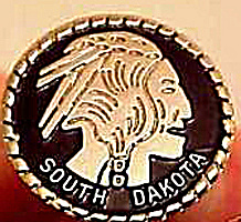 South Dakota Indian Collector's Pin (Image1)