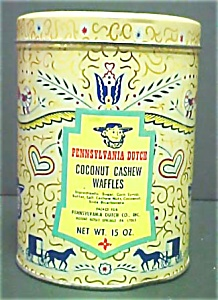 Vintage  Round PA Dutch Candy Advertising Tin (Image1)