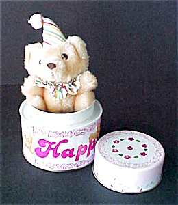 Happy Birthday Cake Tin With Surprise (Image1)