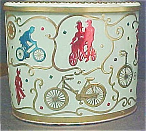 Vintage Baret Ware English Bicycle Tin (Image1)