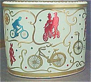 Vintage Baret Ware English Bicycle Tin (Image1)