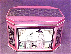 Art Deco Style Octagon Shaped Tin (Image1)