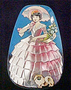 Vintage  Lady Tin - English Advertising (Image1)