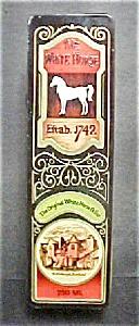 Vintage White Horse Tin - Coffin Style (Image1)