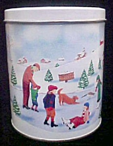 Winter Family Scene Tin (Image1)