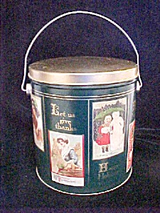 All Seasons/Holiday Pail Style Tin Container (Image1)