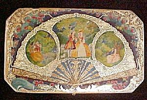 Vintage Artstyle Chocolates Hinged Tin Casket (Image1)