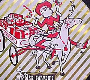 Vintage Mrs. Carver's Fruitcake Tin (Image1)