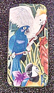 Parrots Rectangular Tin Container (Image1)