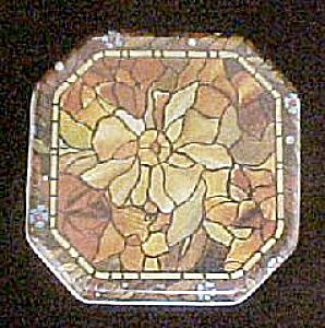 Vintage Classic Stained Glass Style Tin