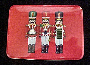 Trio Of Christmas Soldiers - Tin Container