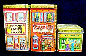 Set of Three Tins - Cookies, Sugar. & Tea (Image1)