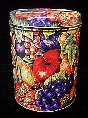 Fruit Design Round Tin Container (Image1)