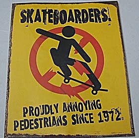 Sheet Metal Skateboarder Sign (Image1)