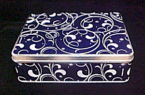Curlicue Design Tin Container