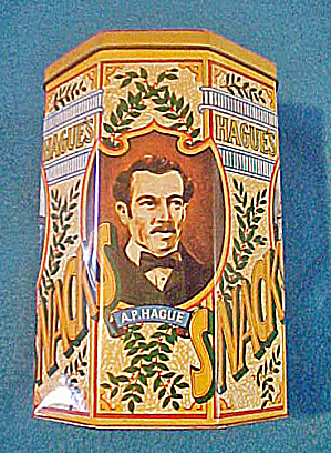 Hague's Snacks Advertising English Tin (Image1)