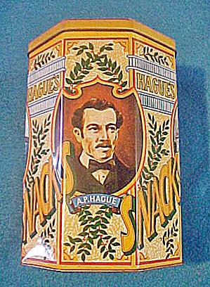 Hague's Snacks Advertising English Tin (Image1)