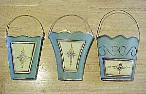 Set of Three Tin Wall Pockets (Image1)