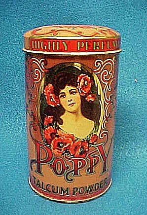 Poppy Talcum Powder Tin - Daher (Image1)