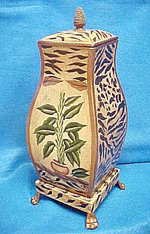 Large Decorative Tin Container (Image1)