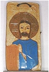 Click here to enlarge image and see more about item 01A: Handmade Ceramic Plaque of Jesus