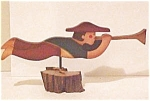Click here to enlarge image and see more about item 02A: Hand Made Wooden Weathervane Figure