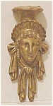 Click here to enlarge image and see more about item 03A: Gilded Architectural Decorative Female Head