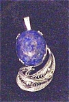 Click here to enlarge image and see more about item A112: Blue Cabochon  Sodalite   Bezel  Set Pendent