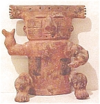 Click here to enlarge image and see more about item A122: pre-Columbian Style Slab Figure