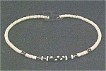 Click here to enlarge image and see more about item A137: African  Bone Choker Necklace - Vintage