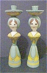 Hand Made Female Figural Candleholders - Pair
