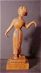 Vintage Wooden Hand-Carved Woman Figure