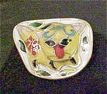 Click here to enlarge image and see more about item A193: Cloisonne Cat Shank Style Button