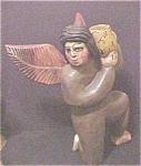 Click here to enlarge image and see more about item A199: Wooden Kneeling Angel of Guerrero, Mexico