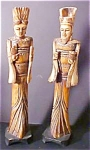 Click here to enlarge image and see more about item A205: Bone Male & Female Oriental Figures