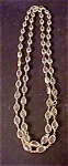 Click to view larger image of Faceted Glass Bead Rope Necklace - 1960's (Image1)