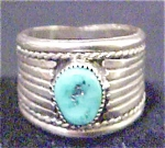 Click here to enlarge image and see more about item A211: Old Pawn  - Navajo Mens Ring - Signed