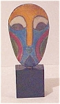 Click here to enlarge image and see more about item A21: South African Miniature Raku Mask