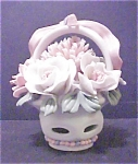 Click here to enlarge image and see more about item A258: Porcelain Flower Basket