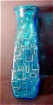 Click to view larger image of Vintage Blue Glass Vase (Image1)